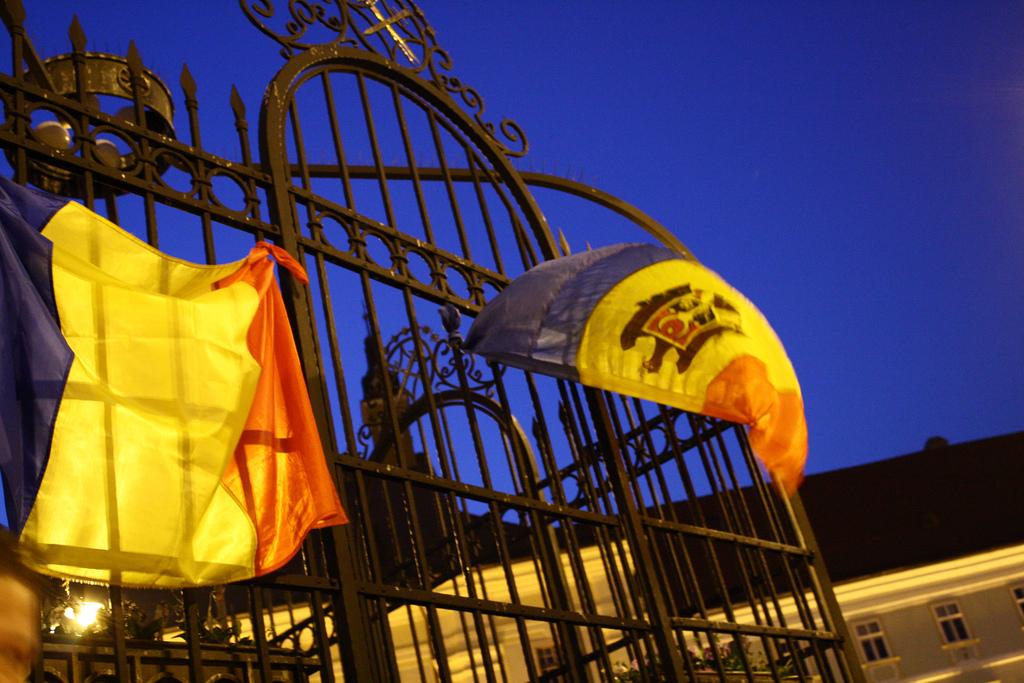 Bandiere Moldova Romania