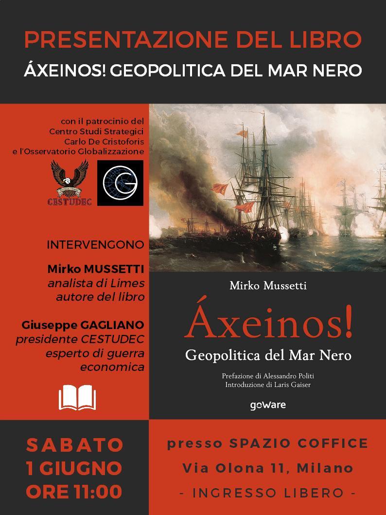 Milano, Sab 1 GIUGNO ore 11:00. Presentazione libro Áxeinos! 📕