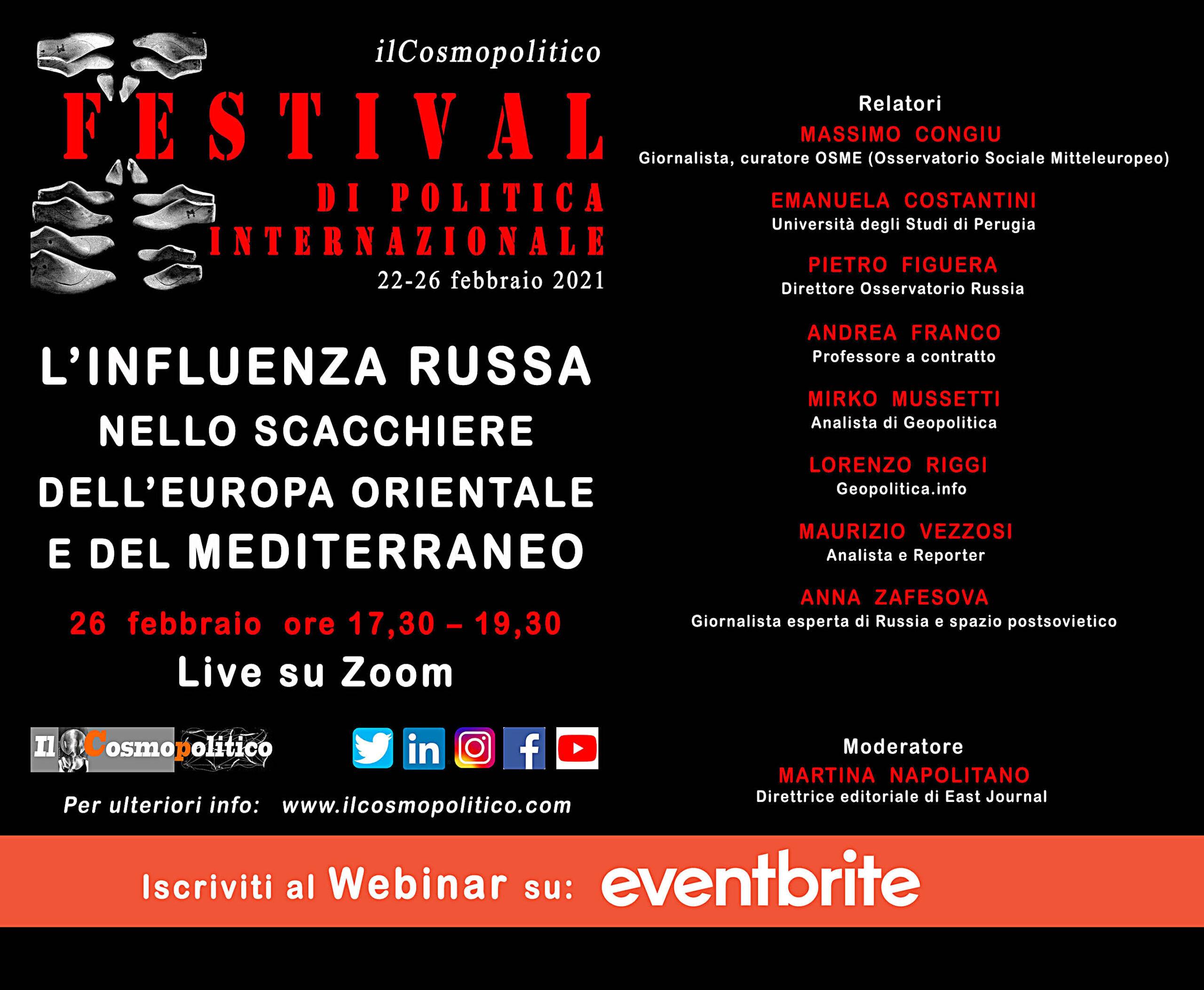 🇷🇺🎇🎟 26/02: Festival di politica internazionale 2021